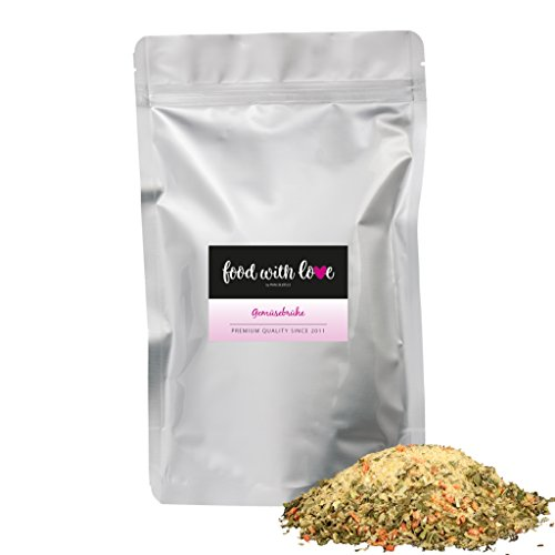 BIO-Gemüsebrühe (Gemüsebouillon, Gemüsesuppe), Brühe ohne Hefe, Glutamate, Fett, Geschmacksverstärker - Salzarm (500g / 22 Liter) von Azafran® Test