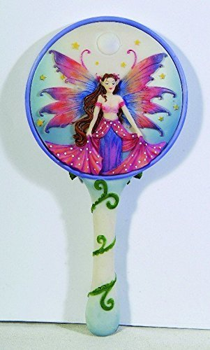 Visitor Fairy Hand Mirror Pink Rose By Molly Harrison by PTC