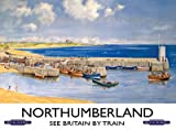 Northumberland targa placca metallo Stabile piatto Nuovo 30x40cm VS4050-1