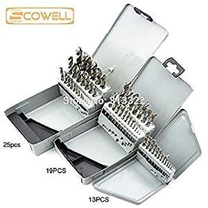 25 Stücke Kit Hss M2: 13 Stücke Kit 19 Stücke Kit 25 Stücke Kit Hss Spiralbohrer Set Metall Bohrer Kobalt Bohrer Für…
