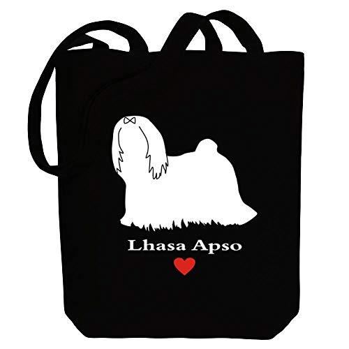 Idakoos Lhasa Apso Love Einkaufstaschen 10.5