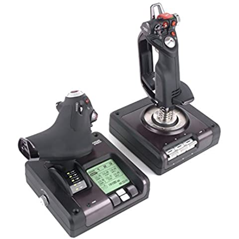 Saitek X52 Pro - Sistema de control para simulación de vuelo, negro