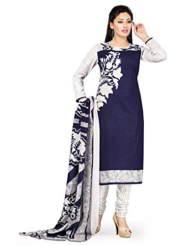PShopee Women's Cotton Unstiched semi Patiala Dress Material Blue Color in Free...