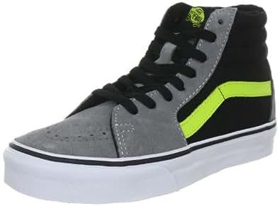 Vans Sk8-Hi VKYA6EH, Unisex - Erwachsene Klassische Sneakers, Grau ((Suede) wild dove/lime punch), EU 36 (US 4.5)