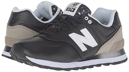 Nero 37 EU New Balance 574 Sneaker Donna Black/Grey Scarpe ulq