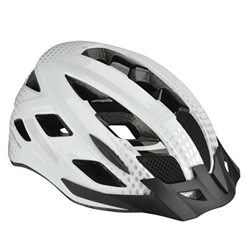 Fischer Erwachsene Urban Lano Fahrradhelm, Weiß, L/XL