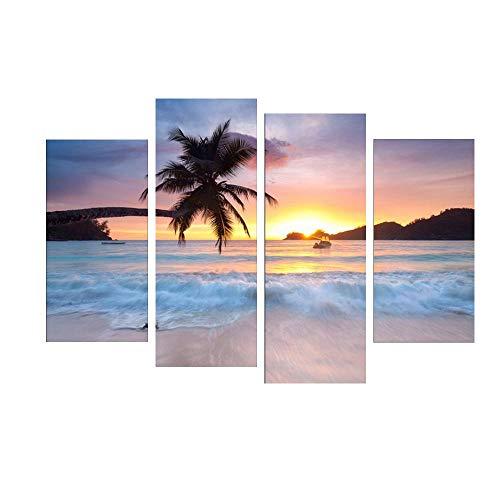Y-XM Wandbilder leinwandbilder Wandbilder leinwandbilder Malerei Bild of Ocean Sunset Auf Leinwand...