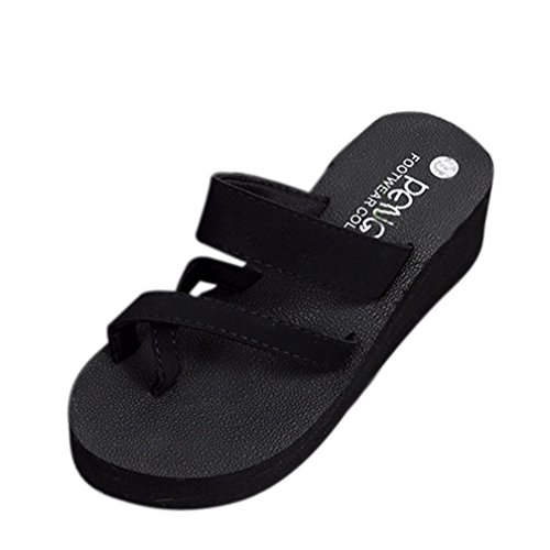FALAIDUO Women Summer Flip Flops Casual Slippers Flat Sandals Beach Open Toe T-Bar Sandals Shoes