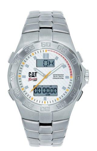 Caterpillar - Champion CA1619 - Montre Homme - Quartz - Analogique et Digitale - Alarme - Bracelet Acier Inoxydable Argent