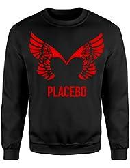 Unisex-Sweatshirt Placebo Red Print - Set-In Sweatshirt LaMAGLIERIA