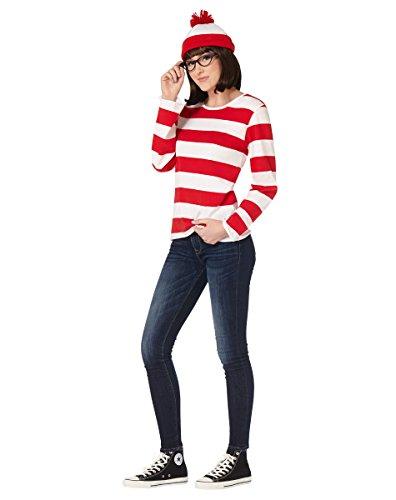 Spirit Halloween-Kostüm für Erwachsene, Aufschrift Where e's Waldo, offizielles Lizenzprodukt - Rot - (Waldo Kostüm Kit)