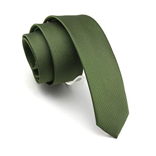BAIJJ 5cm grün schlank klassisches Design 100% Seide Männer Krawatte Allgleiches Party Business Abend Hochzeit Bräutigam in Geschenkbox (Grüner Pfeil Kostüm Muster)