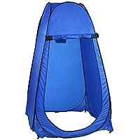 Buyi-World Tenda Automatica Pop-Up da Campeggio per Sacco a Pelo Mini Gazebo, Tenda da Doccia Spogliatoio Portatile Impermeabile 104 × 104 × 190cm (Blu)
