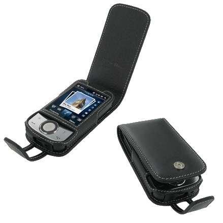 Etui - Housse cuir PDAIR NOIR ouverture type flip top (3BHT44F41) pour HTC Touch cruise 2009