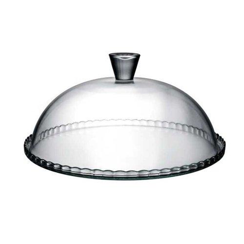 PASABAHCE 1613281 Plat à tarte 32 cm avec cloche Verre, Transparent