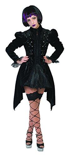 Luxuspiraten - Damen Halloween Karneval Kostüm Set Steam Punk, Darkness Gothic Lady, M, Schwarz