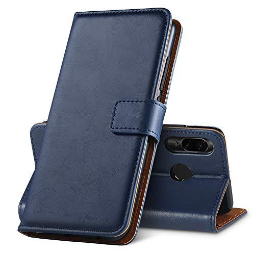 GeeRic Funda para Xiaomi Redmi Note 7/ Note7 Pro/Note 7S, Libro PU [Función de Soporte] [Ranura para Tarjeta] [Imán] [Antideslizante] Funda Protector para Xiaomi Redmi Note7 Azul