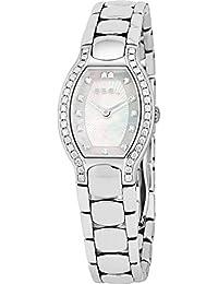 Ebel Beluga Tonneau Mini Steel & Diamond Womens Luxury Swiss Watch MOP 9656G28/9991070