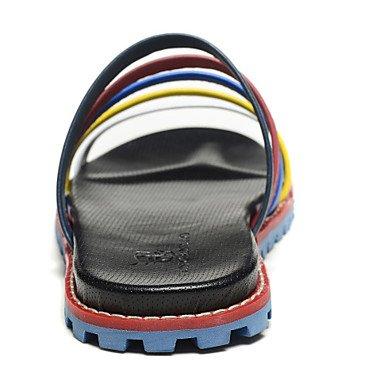 Sandales d'été chaussures d'hommes dehors / Athletic occasionnel / Chaussons en cuir noir Black