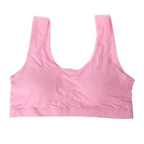 Jiamins Mädchen U Typ Baumwolle Unterwäsche Weste, Sport-BH (Pink)