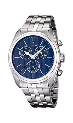 Festina F16778/3 - Reloj de pulsera hombre, acero inoxidable, color plateado de Festina