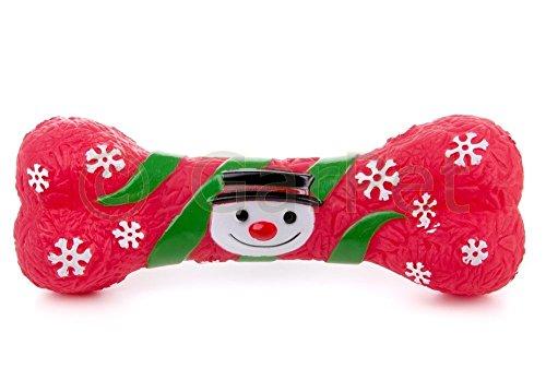 Hundespielzeug Weihnachten Knochen Schneemann Hunde Geschenk Spielzeug Quietscht