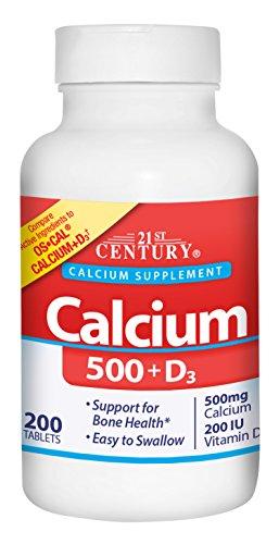 21st Century Calcium 500 Plus D Caplets, 200 Count by 21st Century -