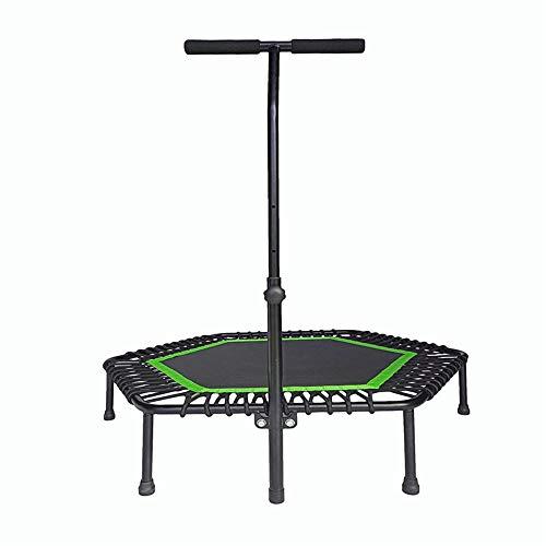 Skiout Mini Fitness-Trampolin mit haltegriff, Fitness Rebounder für Körpertraining und Cardio Workouts, leise Gummiseilfederung, Max bis 150kg,Green,40inch