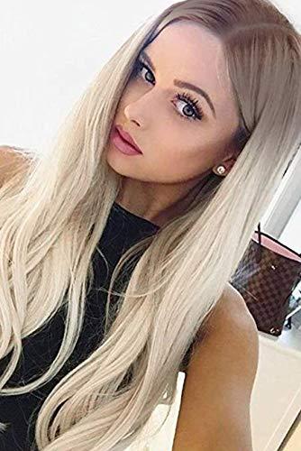 Vebonnie Silber Platinum Blonde Lace Perücken ()