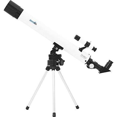 Zoomion Teleskop Spaceboy AC 50/500 AZ, Fernrohr für Kinder mit 50mm Öffnung und 500mm Brennweite inkl. Stativ und Zubehör