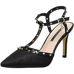 XTI 35030, Zapatos de tacón con Punta Cerrada para Mujer, Negro, 39 EU