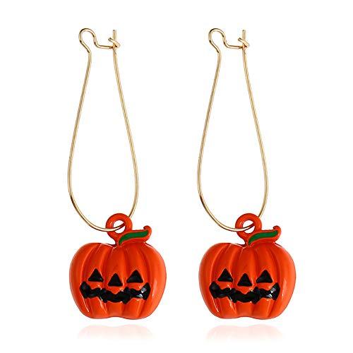 nge Halloween Legierung Fantasma Orange Kürbis Schmuck Unisex Mode Schmuck Accessoires ()