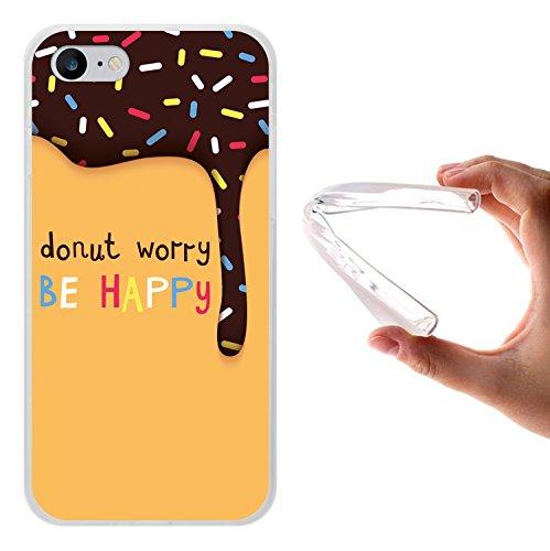 iPhone 7 Hülle, WoowCase Handyhülle Silikon für [ iPhone 7 ] Weisse Schokolade und Waffel Handytasche Handy Cover Case Schutzhülle Flexible TPU - Transparent Housse Gel iPhone 7 Transparent D0560