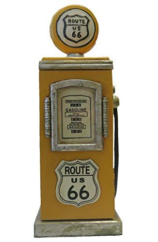 """Retro Vintage Schrank CD-Regal""""Route 66"""" Zapfsäule - gelb"""