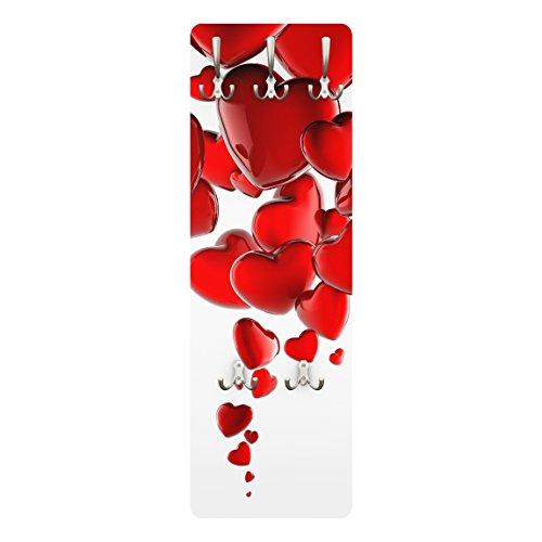 Apalis appendiabiti–palloncini a cuore 139x 46x 2cm,–appendiabiti, appendiabiti da parete, appendiabiti, appendiabiti da parete, appendiabiti, attaccapanni