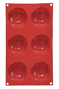 Premier Housewares 6 Rose Cake Mould Tray - Red