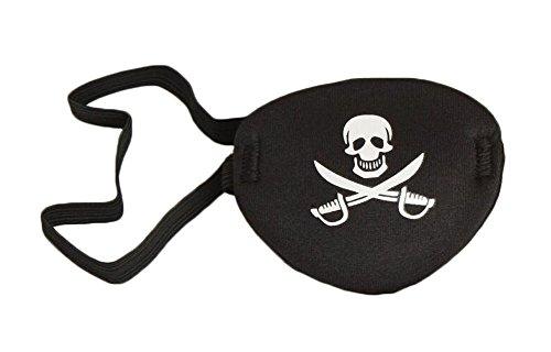 Mutispandex Matériel Pirate Eye Patch pour Adulte - Noir