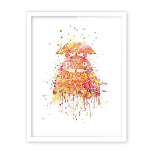 Geiqianjiumai Moderne Anime Katze japanischen Anime Film Kunstdruck Poster abstrakte Wand Bild Leinwand Malerei Kinderzimmer Dekoration rahmenlose Malerei 50x70cm