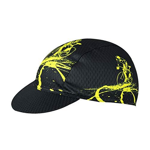 Maritown Unisex-Radsport-Mütze, Vintage-Multi-Color-Lightweight-Breathable Anti-Sweat-Hüte Sommer unter Helmkappe für Fahrradfahren
