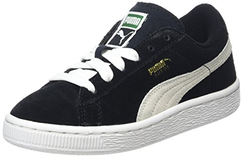 Puma 360757 - Scarpe da Ginnastica Basse Unisex – Bambini Nero (BLACK/WHITE 01BLACK/WHITE 01)