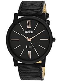RELISH RE-S806BB SLIM Black Dial Analog Watch For Mens & Boys
