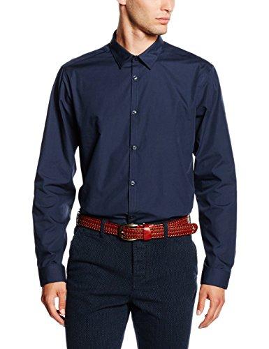 New Look Herren Businesshemd Poplin Blau (Marineblau)