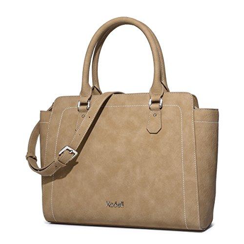Kadell Borse a tracolla della borsa di totalizzatore della borsa del progettista delle signore delle borse delle donne leggere Marrone