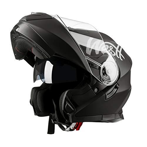 Westt® Torque X · Casco Moto Modular con Doble Visera para Ciclomotor...