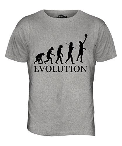 CandyMix Netball Evolution Des Menschen Herren T Shirt Grau Meliert