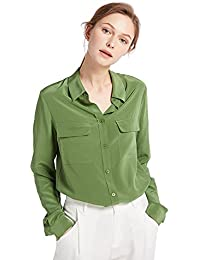 adbd16854d0944 LILYSILK Women s 100 Silk Blouse Long Sleeve Ladies Shirts Top 18 Momme  Pure Silk