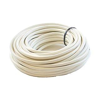 3 Core Round White Flex Flexible Cable 0.75 MM - 10 metre Cut Length