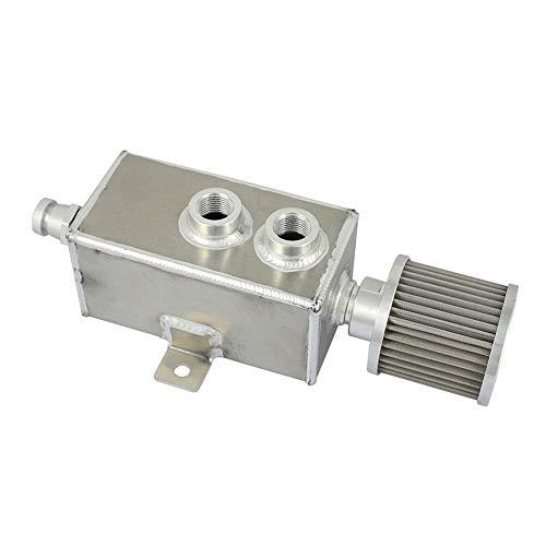 Preisvergleich Produktbild Lopbinte Neue Aluminium 1L Motor l Auffang behlter kann Tank + Verschnaufpause & Ablasshahn verwirrt Silber