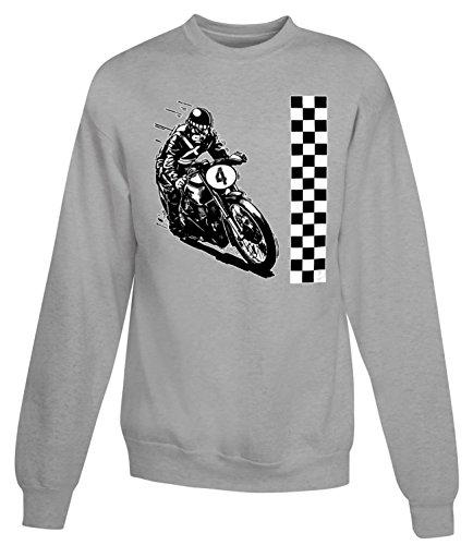 Billion Group | Motorcyclist | Motorcycle Race | Women's Unisex Sweatshirt Gris