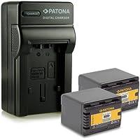 Novità - 4in1 Caricabatteria + 2x Batteria come VW-VBK360 VWVBK360 con Infochip · 100% compatibile con Panasonic HDC-TM90   SD90   HS80   TM80   SD80   TM41   TM40   SD40   HS60   SD60   SDX1   TM55   TM60   H100   T70   S70   H85   S50   T50   T55